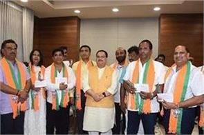 10 congress legislators of goa formally join bjp