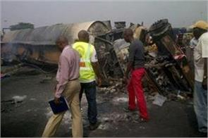 nigeria 45 people killed in tanker filled with gasoline