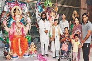 ganpati  to go to jammu and kashmir in a train for soldiers