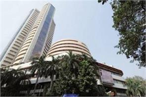 sensex down 203 points and nifty opened at 10989