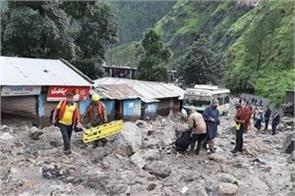 rainfall flood landslide uttarkashi