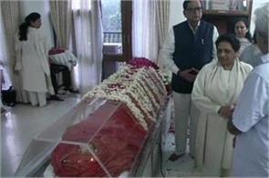 mayawati reached house to tribute to sushma swaraj