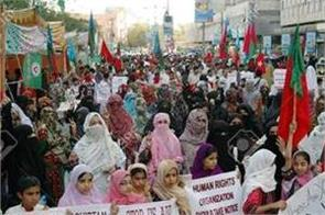 world s bloch population protest against pakistan