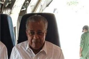 vijayan leaves for visit flood affected areas