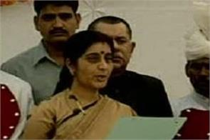 sushma showed a glimpse of administrative ability