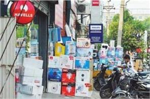 illegal occupation in front of shops despite instructions from high court