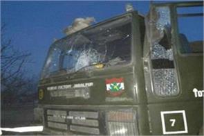 ied blast in pulwama army vehicle damage