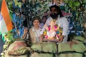 ganpati bappa will be sitting on indo pak border