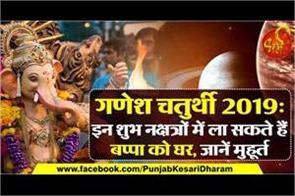 ganesh chaturthi 2019 shubh muhurta and shubh sanjyog in hinii