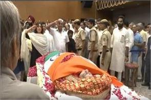 sushma swaraj s funeral