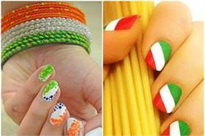 try 10 nail art designs on independence day