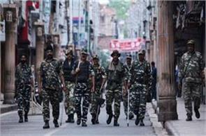 j k is quiet except for some incidents of stone pelting on article 370