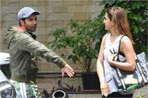 sara ali khan and varun dhawan spotted outside dance class
