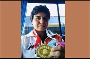 haryana police dcp geetika jakhad won gold medal in china