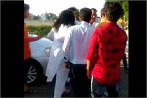 congress woman leader assaulted watch video viral