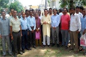 village defence commete members demand salary