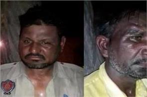 people beat up havildar for drug trafficking video viral