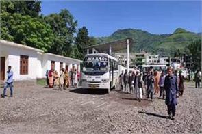 rawalkot bus service suspended from poonch