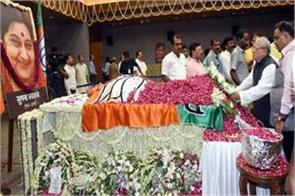 tribute to late sushma swaraj