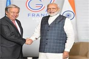 modi holds meaningful dialogue with un chief