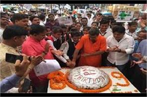 up modi s birthday celebrated with pomp mayawati extended best wishes