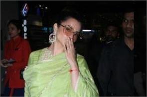 kangana ranaut looks pretty as she spotted at mumbai airport