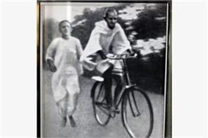 have you ever seen gandhi riding a bicycle