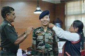 ponung doming became the first woman lieutenant colonel of arunachal