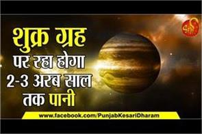 scientific effect of water on venus