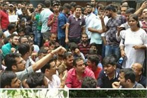 icai students continue protest for 2nd day