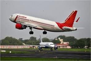 air india staff celebrates for new flight from delhi to toronto