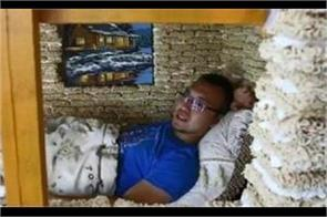 chinese man builds children s playhouse of noodles