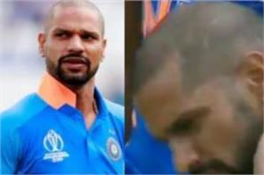 what was dhawan s first reaction after being hit on the neck samson revealed