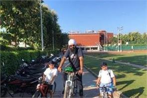 when majithia remembered his childhood while cycling