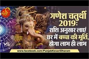 ganesh chaturthi 2019 bring bappa idol according to your zodiac