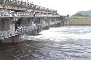 3 flood gates opened after rising water level of tighara dam