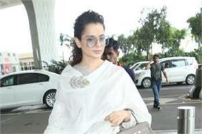 kangana ranaut looks beautiful as she arrives mumbai airport