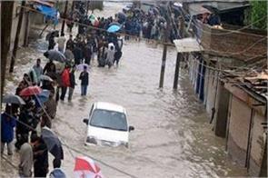 heavy rain jammu water low lying areas life affected