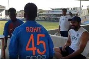 rohit sharma s enjoy with west indies fans watch video