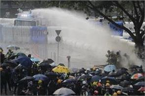violence again in hong kong tear gas shells fired on protesters