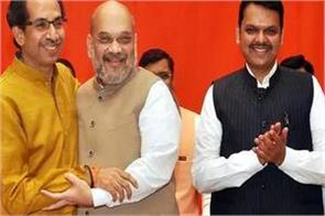 seats are divided bjp 144 shiv sena to contest 126 seats