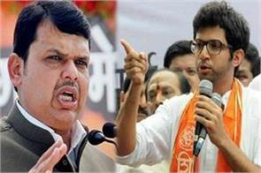 cm fadnavis and aditya thackeray face to face at metro car shed