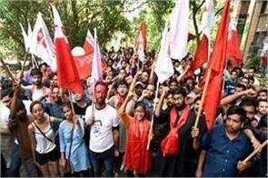 jnu student union election results declared aisa wins all four seats