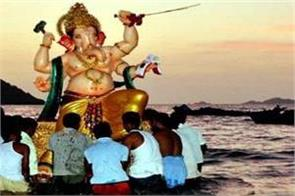 ganesh idols were not immersed in latur maharashtra due to water scarcity