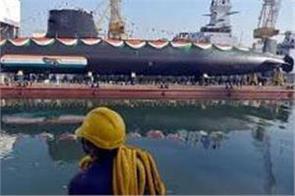 navy will join  khanderi  the second scorpene class submarine on 28 september