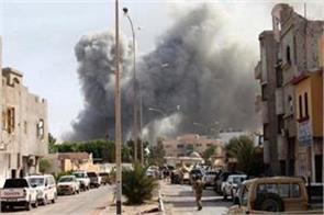 air raid in libya 32 people killed 50 injured