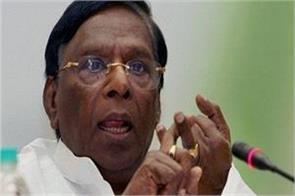 congress mla ayushman should not give political color to india narayanasamy