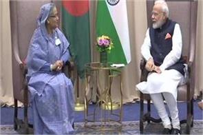 modi meets bangladesh bhutan and mauritius leaders