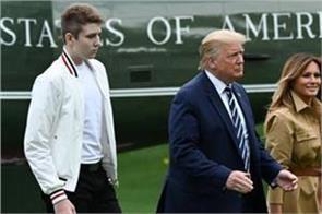 covid trump s son barron had coronavirus says first lady