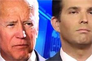 biden could be soft on china not good for india donald trump jr